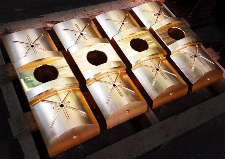Machined Brass Slippers